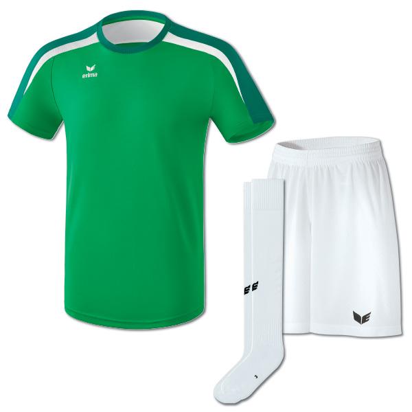 Liga v2 Tshirt smaragdvit