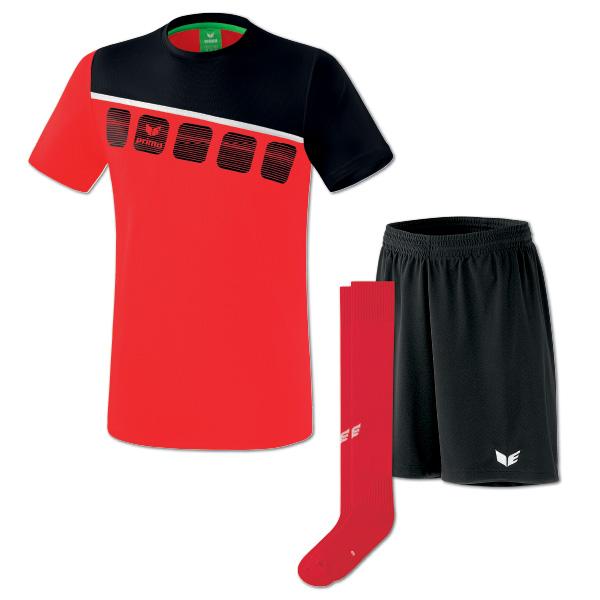 5-C tshirt rödsvart